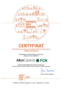 Kliknij aby zobaczyć PDF zawierający certyfikat dostępności